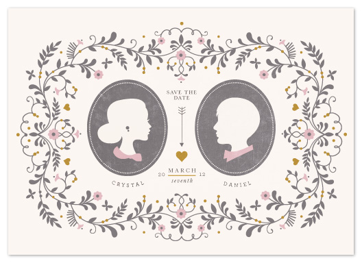 save the date cards - Date Silhouette by Kristen Smith