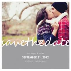 Cursive Romance Save the Date Cards