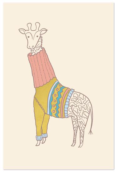 art prints - Fiesta Turtleneck by Moglea