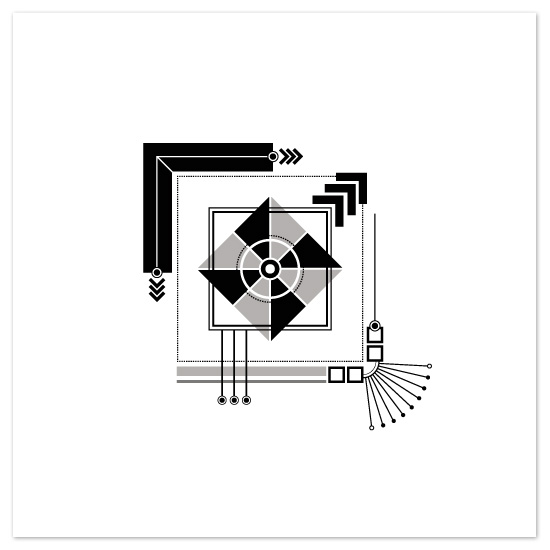 art prints - Mechanical Square by Jennifer Pace Duran