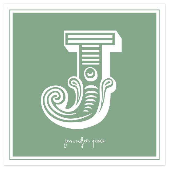 art prints - Whimsical Initial Name Print by Jennifer Pace Duran