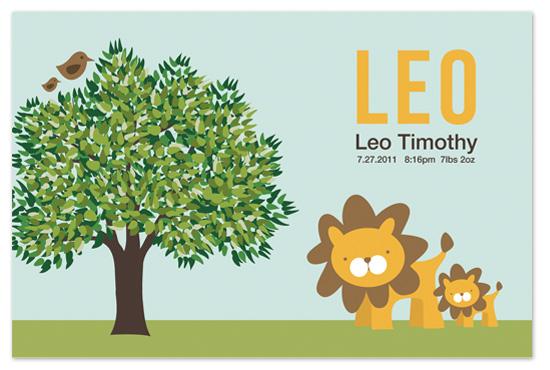 art prints - Leo the Lion by Lindsay Grace