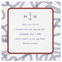Square Knot Save the Date Cards