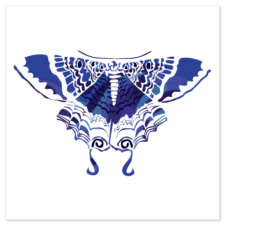 art prints - Kaleidoscope Moon Moth by Candice Leigh