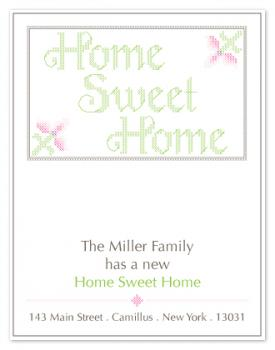 Cross Stitch Home Sweet Home Moving Announcements