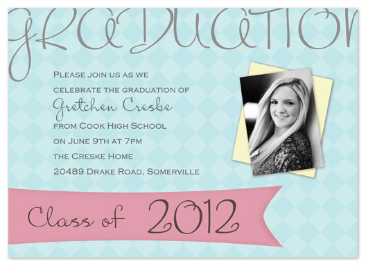 graduation announcements - Diamonds by My Sweetie Pie