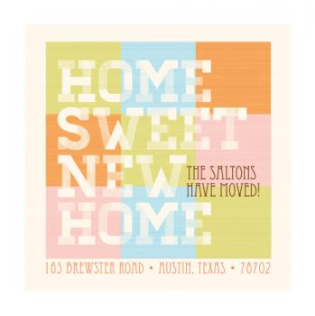 Home Sweet New Home Moving Announcements
