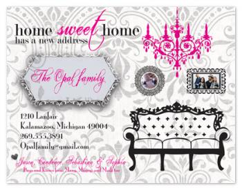 Home Sweet Home Pink Moving Announcements