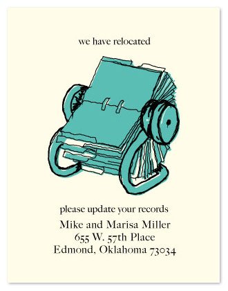 moving announcements - Rolodex Scribble by Anna Elder