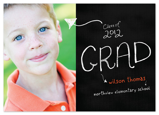 graduation announcements - Chalkboard Grad by tracey atkinson