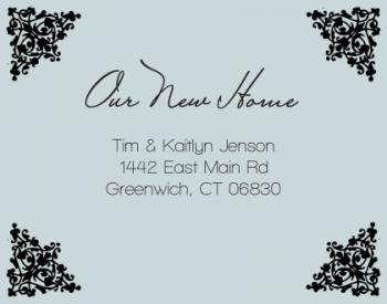 Fancy New Home Moving Announcements