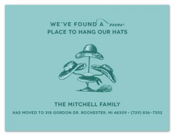 A New Place to Hang Our Hats Moving Announcements