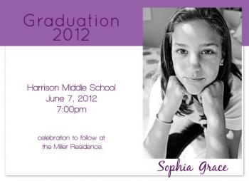 Purple Celebration Graduation Announcements