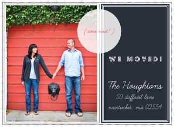 Preppy Chic Moving Announcement