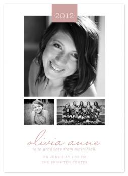sweet simplicity Graduation Announcements