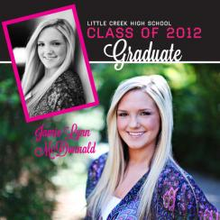 Modern Two Photo Graduation Announcement