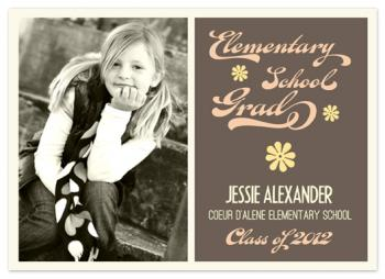 Flower Power Graduation Announcements
