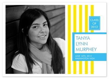 Summer Stripes Graduation Announcements