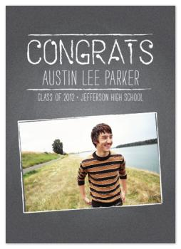 chalked Graduation Announcements
