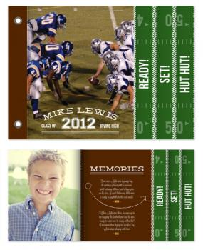 Graduation Touchdown Graduation Announcements