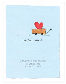 We've Moved Heart Wagon