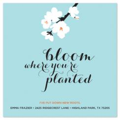 Bloom Where You're Planted Moving Announcements
