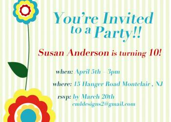 bloom Party Invitations