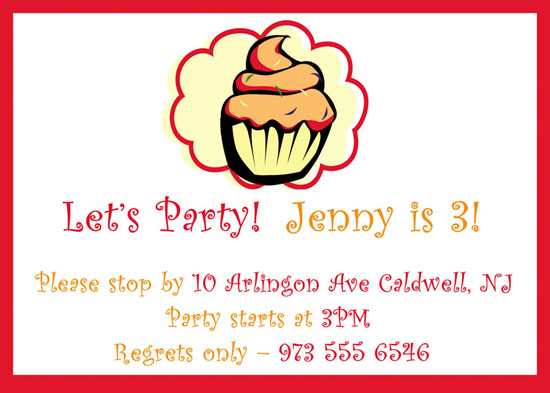 party invitations - Cupcake of my eye by CML Designs