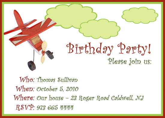 party invitations - Fly away with me by CML Designs