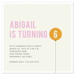 Little Balloon Party Invitations