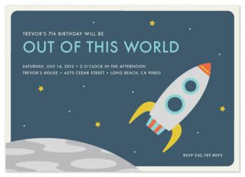 Out of This World Party Invitations