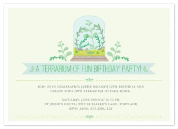 Terrarium of Fun Party Invitations