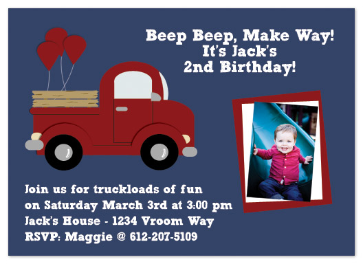 party invitations - Beep Beep, Make Way! by My Sweetie Pie