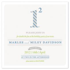 1 Squared Party Invitations