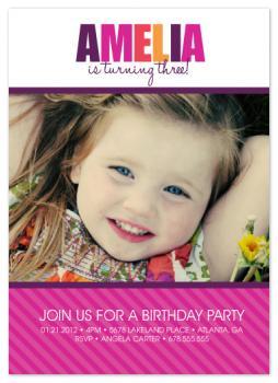 Vibrant and Fun Party Invitations
