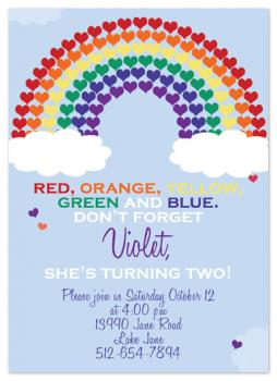 rainbow of color Party Invitations