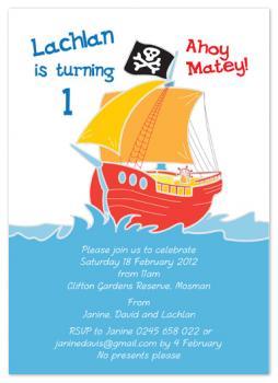 Ahoy Matey Party Invitations