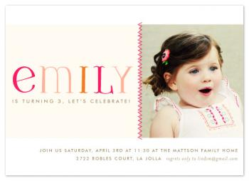 ric rac Party Invitations