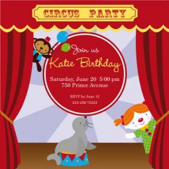 Circus Party Party Invitations
