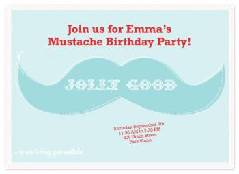 Mustache Madness Party Invitations