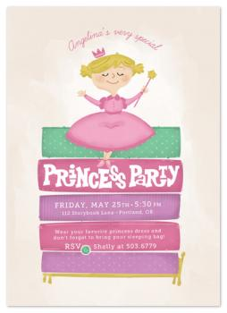 Princess and the Pea Party Invitations