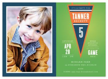 Sports Pennant Party Invitations
