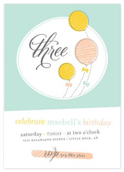 balloons & bows Party Invitations