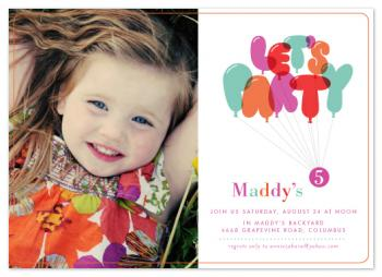 Don't Pop The Balloons Party Invitations