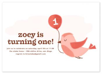 a tweet celebration Party Invitations