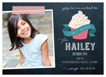 Sweet Chalk Drawing Party Invitations