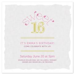 Dew Drops Sweet 16 Party Invitations