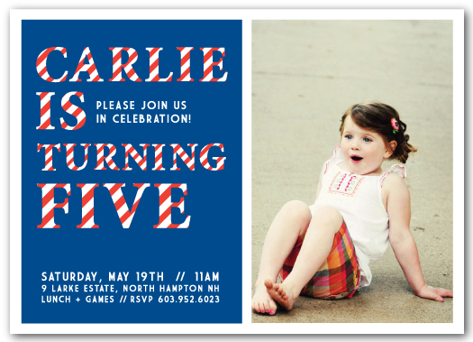 party invitations - Striped Celebrations