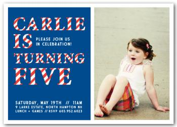 Striped Celebrations Party Invitations