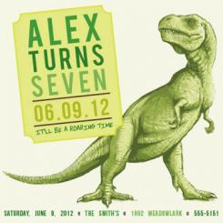 Fresh and Fierce Dinosaur Party Invitations